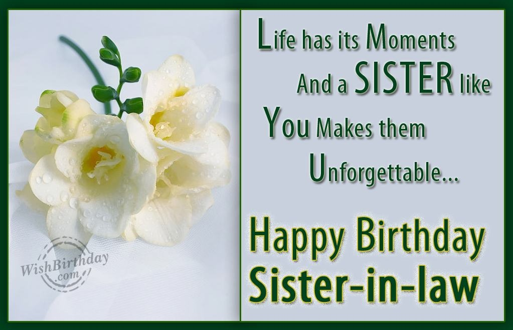 Sister In Law Quote Picture Quote #1