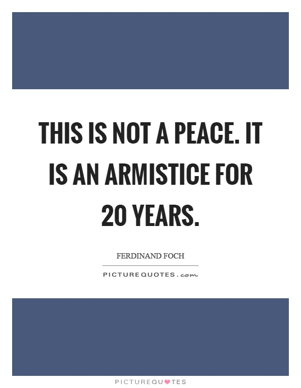what is a armistice
