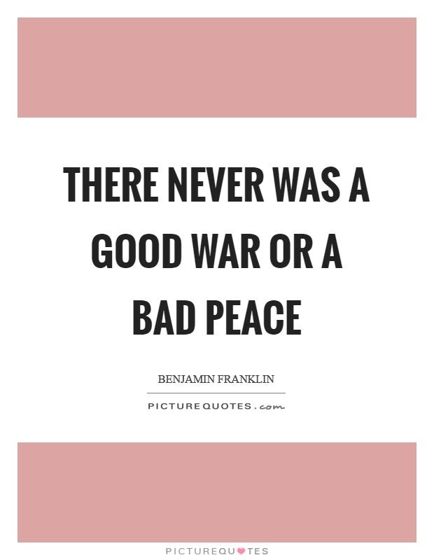 good war and bad peace The inter-war years were a time of relative national peace for the united states, and many politicians took a strong stance of isolationism in the aftermath of world war i influential senators such as gerald p nye were successful in passing a number of.