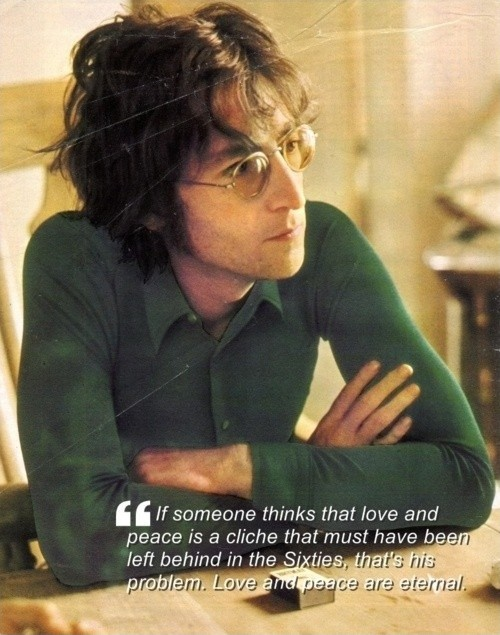 John Lennon Peace Quote 1 Picture Quote #1