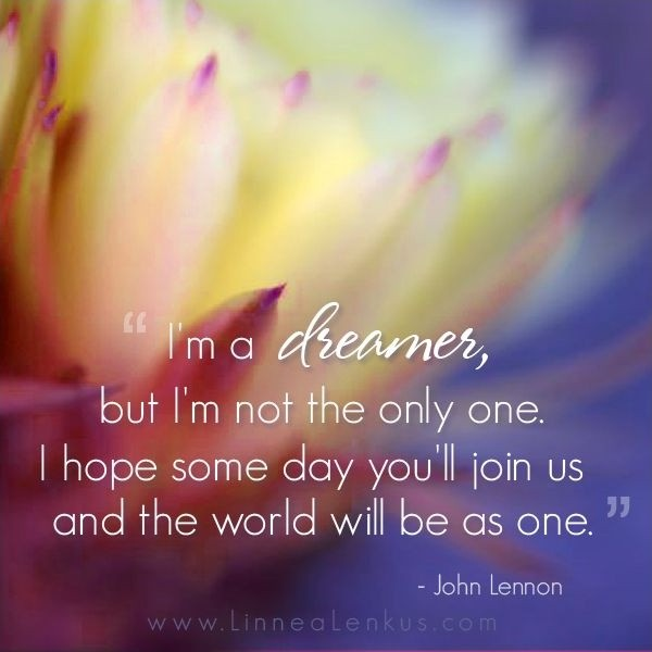John Lennon Quote Imagine 1 Picture Quote #1