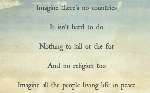 Imagine Peace John Lennon Quote 1 Picture