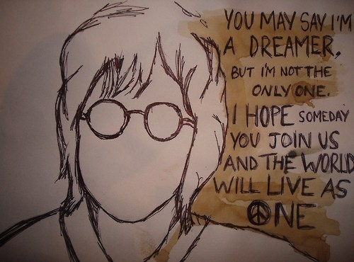 Imagine Peace John Lennon Quote 2 Picture 1