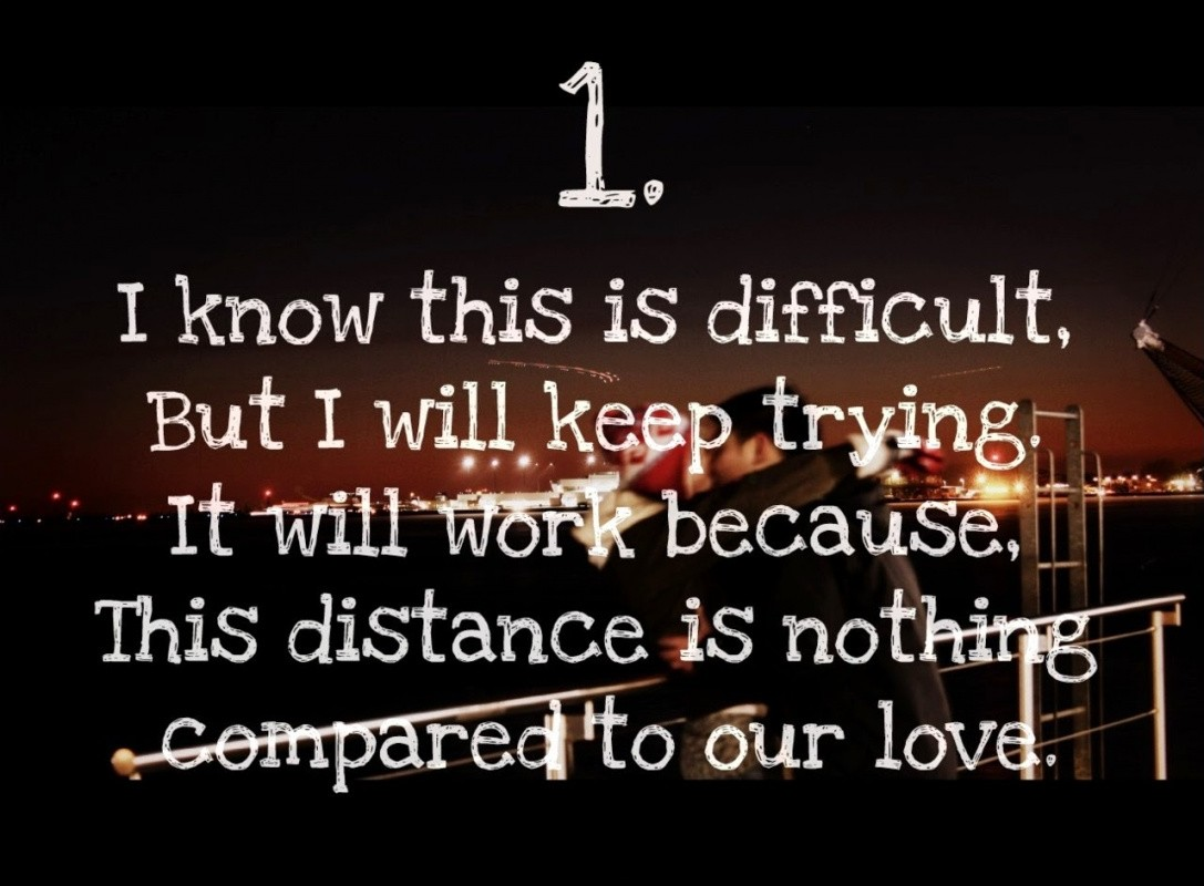 Long Distance Love Quote For Him From Her 1 Picture Quote #1