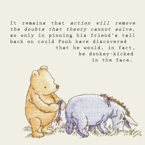 Winnie The Pooh Quotes About Life Beauteous Eeyore Winnie The Pooh Quote  Quote Number 558854  Picture Quotes