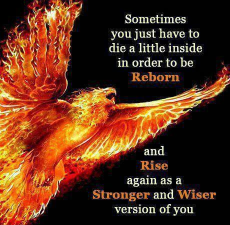 Sometimes you just have to die a little inside in order to be reborn and rise again as a stronger and wiser version of you Picture Quote #1