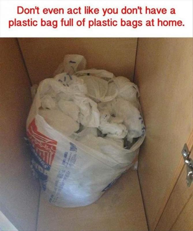Don't even act like you don't have a plastic bag full of plastic bags at home Picture Quote #1