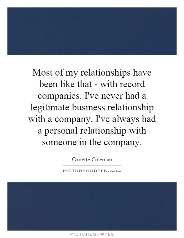 business relationship quotes and sayings