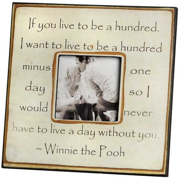Framed Winnie The Pooh Quote 1 Picture Quote #1