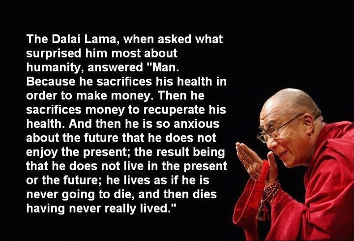 Dalai Lama Quote About Life 1 Picture Quote #1