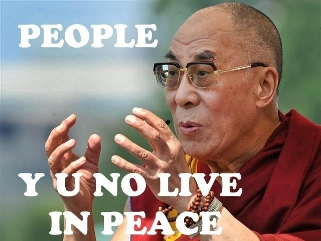 Dalai Lama Quote On Peace 1 Picture Quote #1