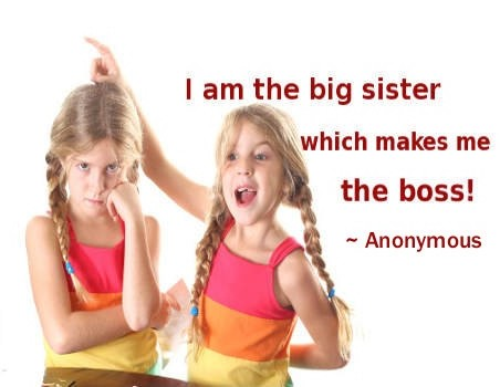 Older Sister Quote Funny 1 Picture Quote #1