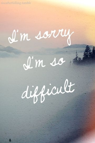 Hard Is That Saying Im Sorry Quote 1 Picture Quote #1