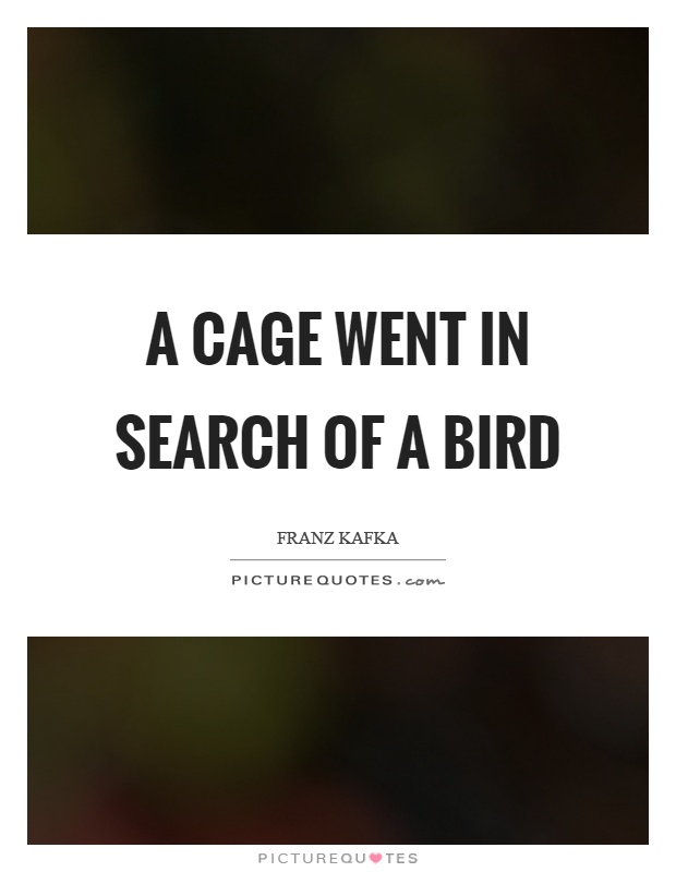 A cage went in search of a bird Picture Quote #1