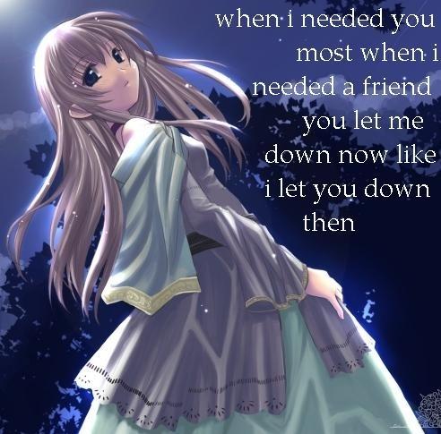 Anime Sad Love Quote 1 Picture Quote #1