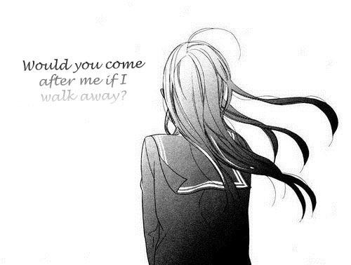Anime Sad Love Quote 3 Picture Quote #1