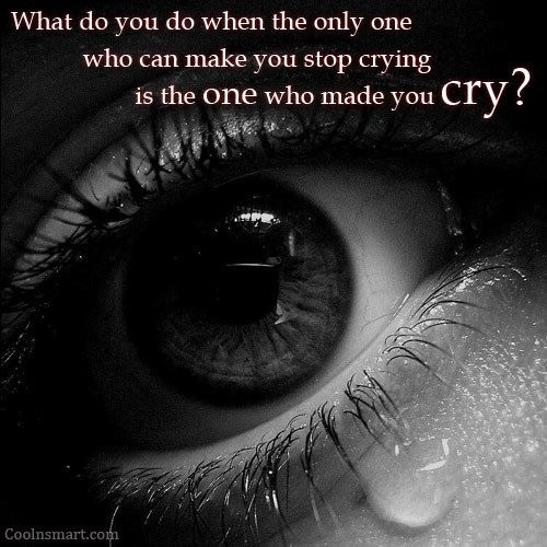 Quotes About Crying: Sad Emo Picture Quotes