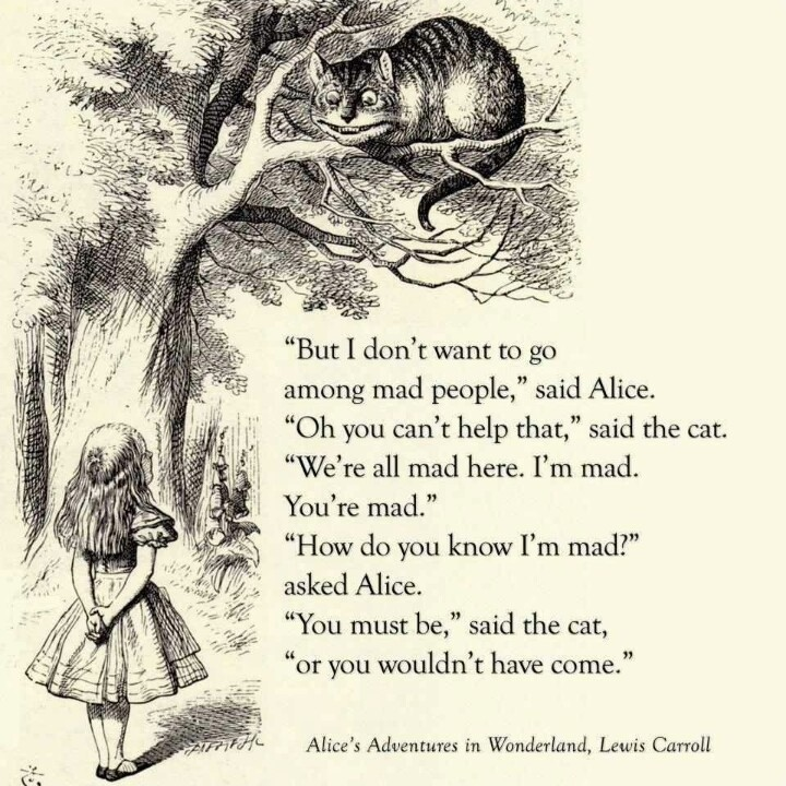 Alice In Wonderland Book Quotes: Cheshire Cat Quotes & Sayings