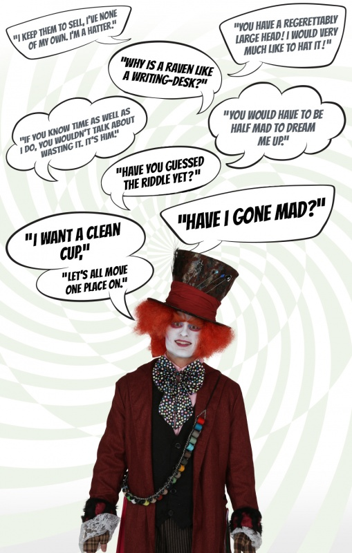 Alice In Wonderland Mad Hatter Quote 1 Picture Quote #1