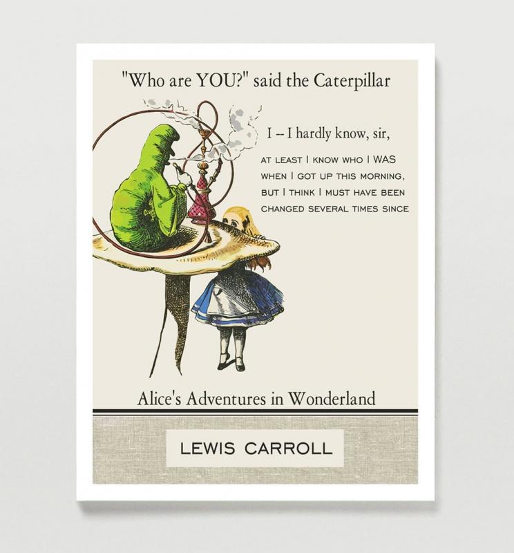 Alice In Wonderland Caterpillar Quote 1 Picture Quote #1