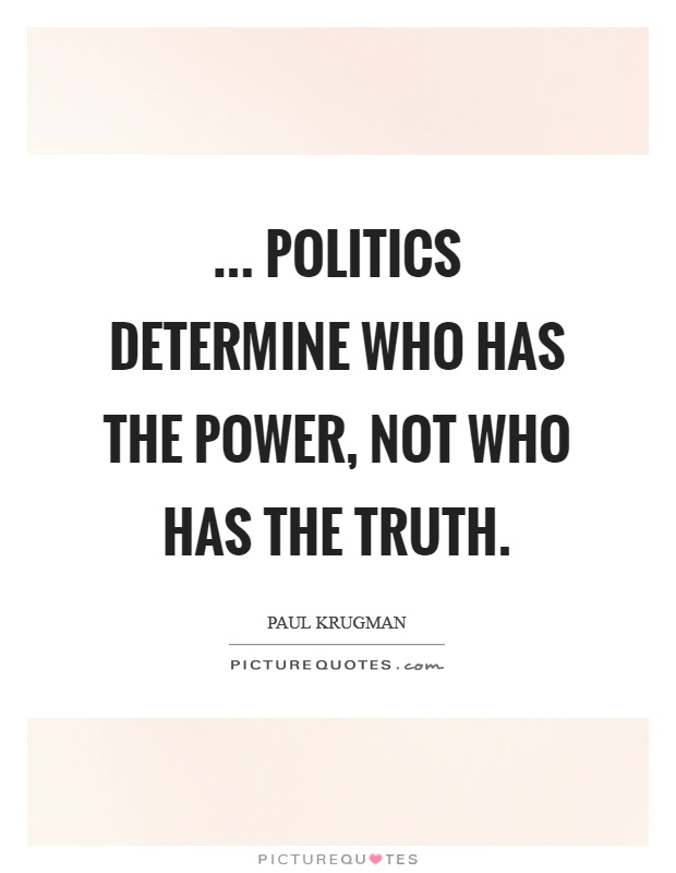 how to find the truth in politics