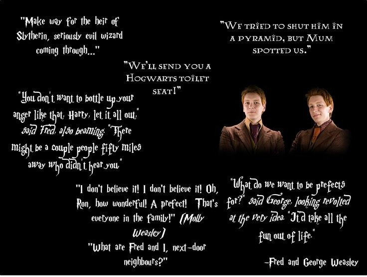 Harry Potter Funny Quote Fred And George | Quote Number ...