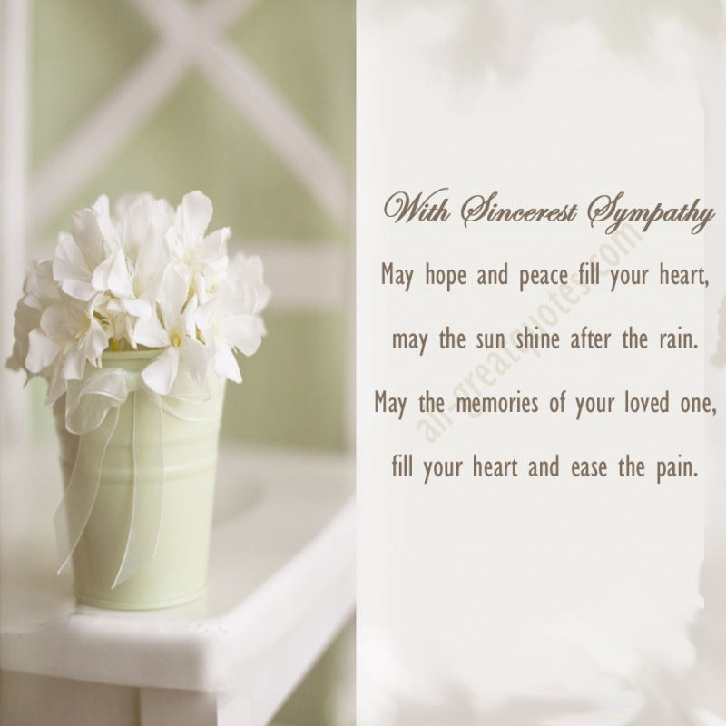 Deepest Sympathy Quote 4 Picture Quote #1