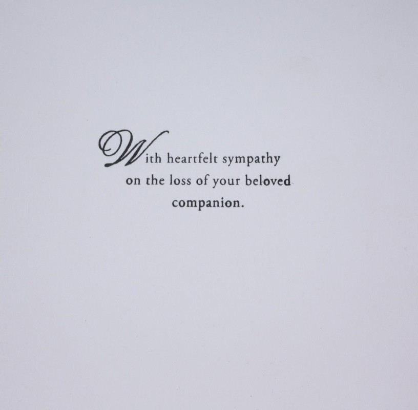 Sympathy Quote Due To Loss Of Husband