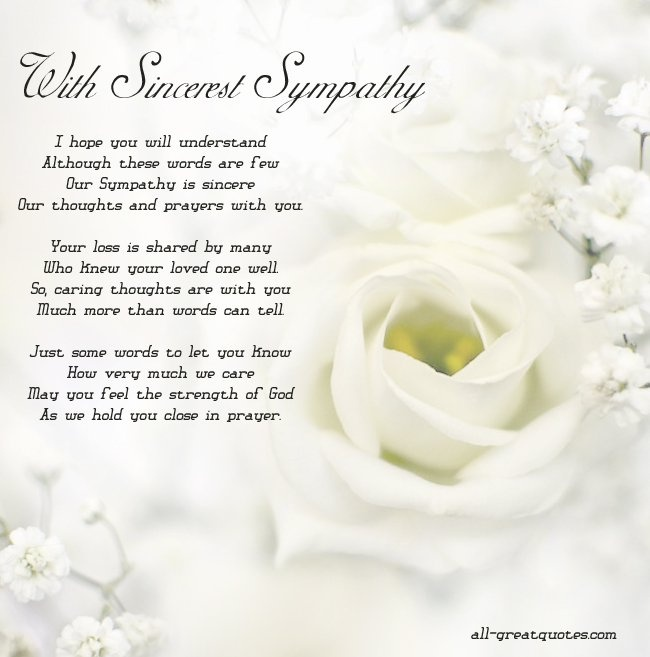 Sympathy Quotes Sympathy Sayings Sympathy Picture Quotes Custom Quotes About Sympathy