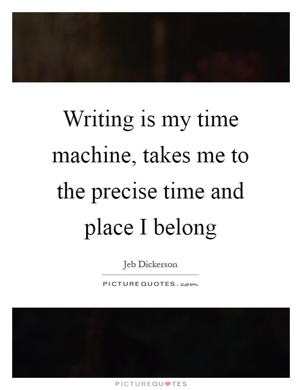 time machine quote