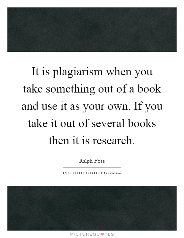 a critical view on plagiarism