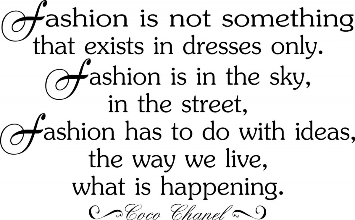 Coco Chanel Fashion Quote 1 Picture Quote #1
