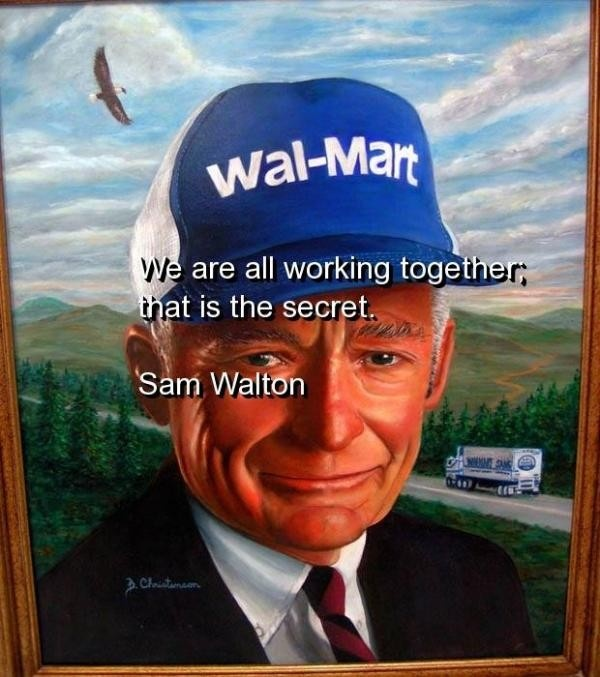 Sam Walton Business Quote 1 Picture Quote #1