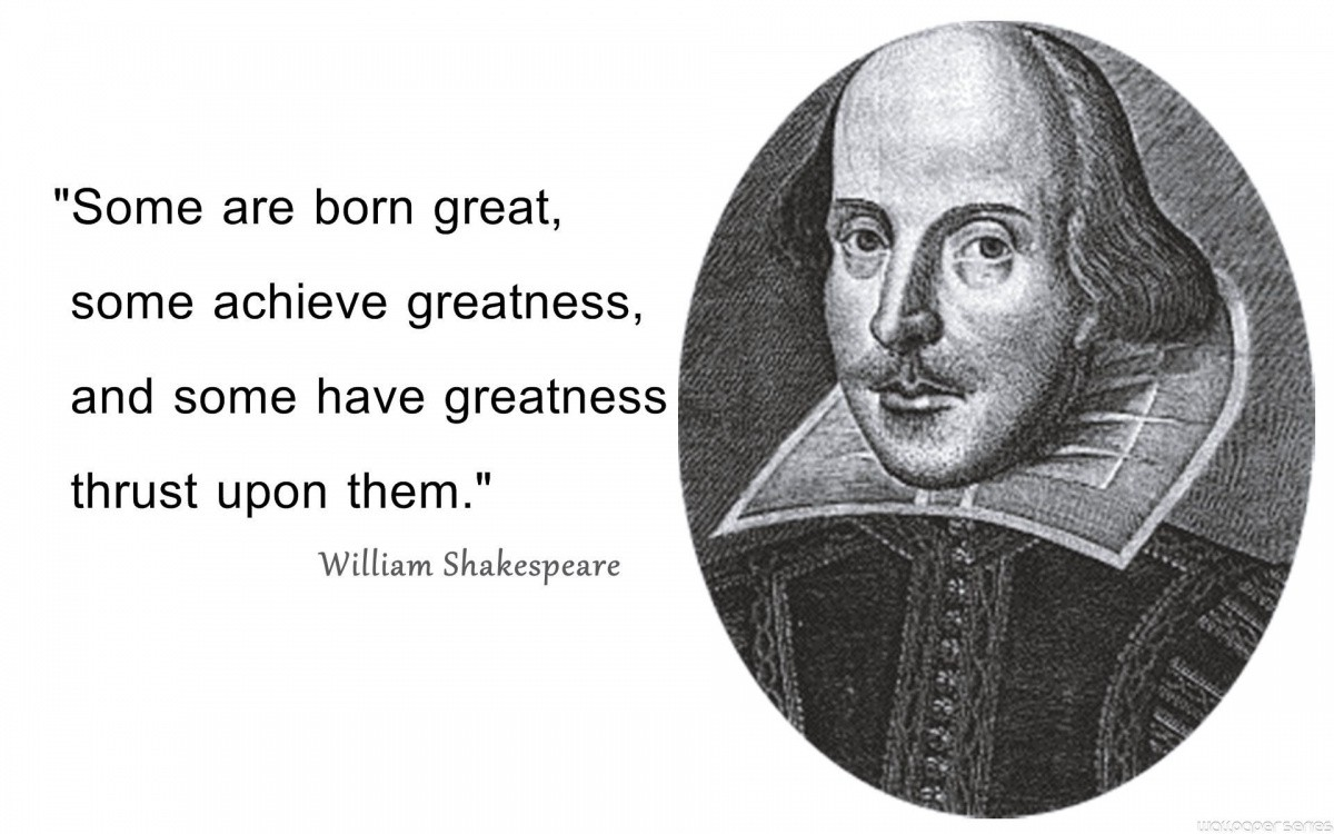William Shakespeare Quote On Greatness 1 Picture Quote #1