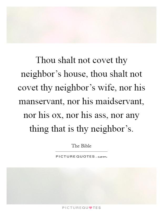 Sorry, do not covet thy neighbors ass solved
