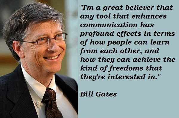 Bill Gates Quote About Technology 1 Picture Quote #1
