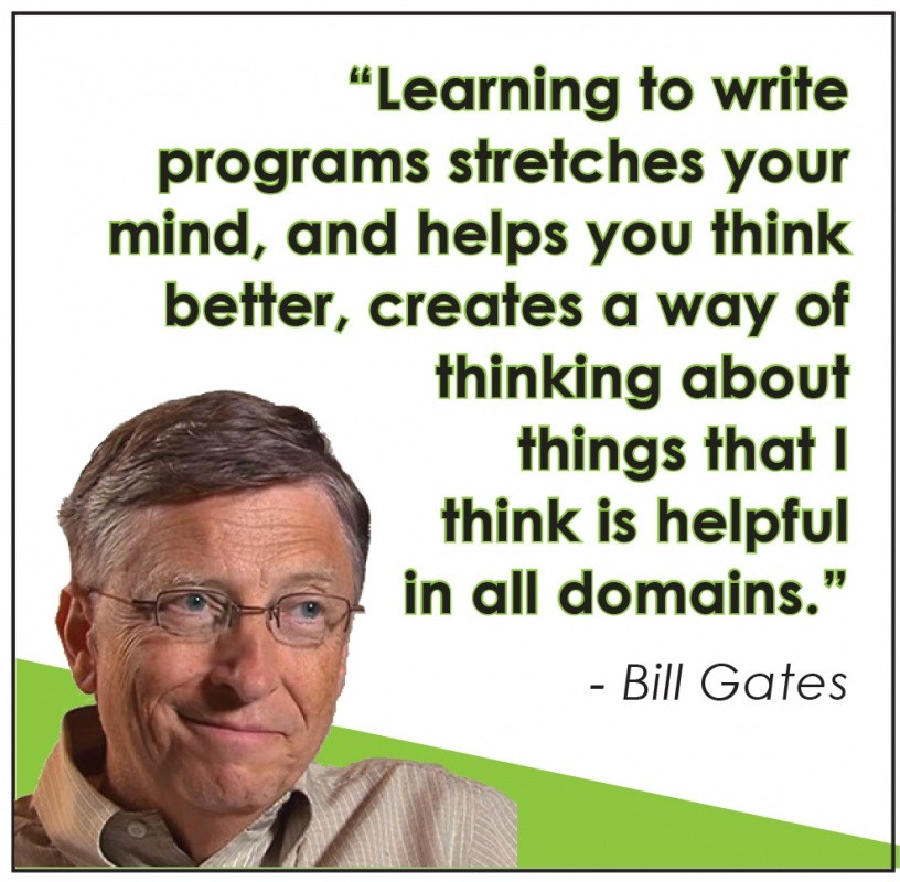 Bill Gates Quote About Learning 1 Picture Quote #1