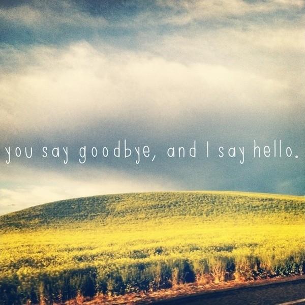 Hello Goodbye Quote 1 Picture Quote #1