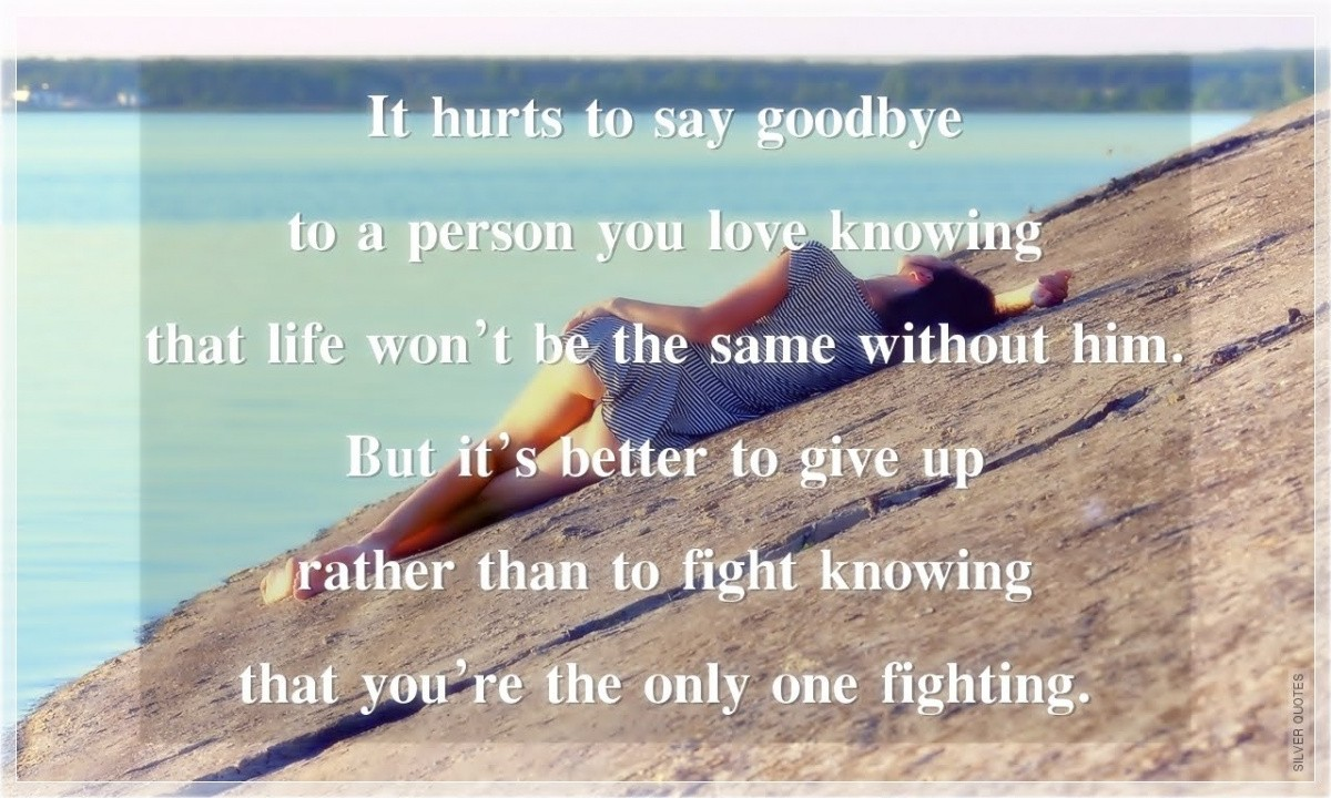 Goodbye Quote For Him 1 Picture Quote #1