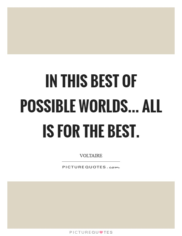 Candide - The best of all possible worlds (Groves ...