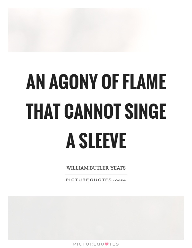 An agony of flame that cannot singe a sleeve Picture Quote #1