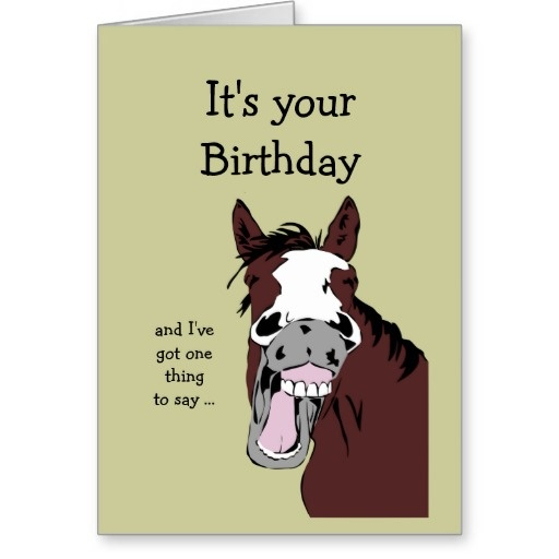 Funny Birthday Quote With Horses 1 Picture Quote #1