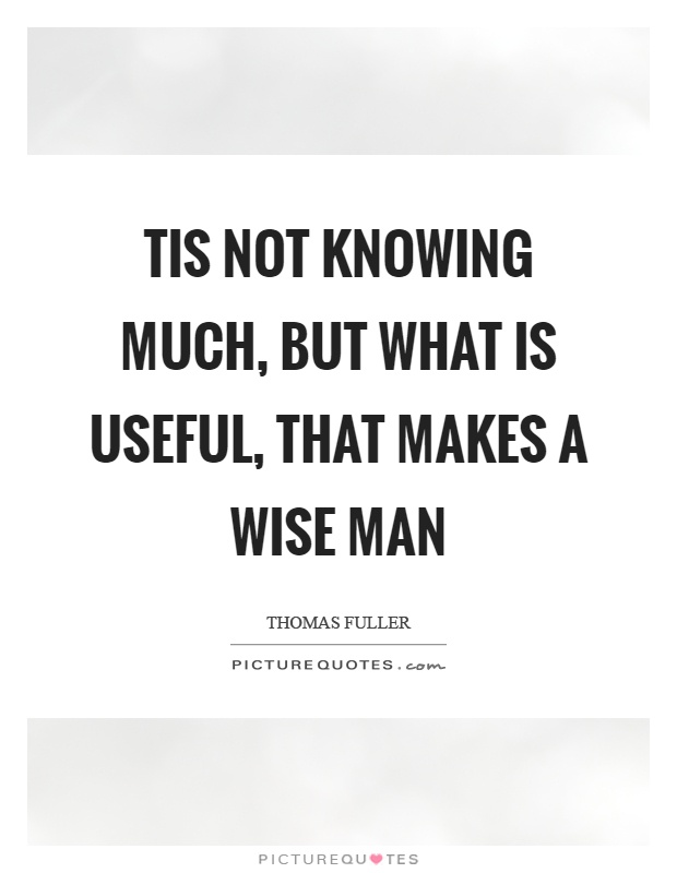 Tis not knowing much, but what is useful, that makes a wise man Picture Quote #1
