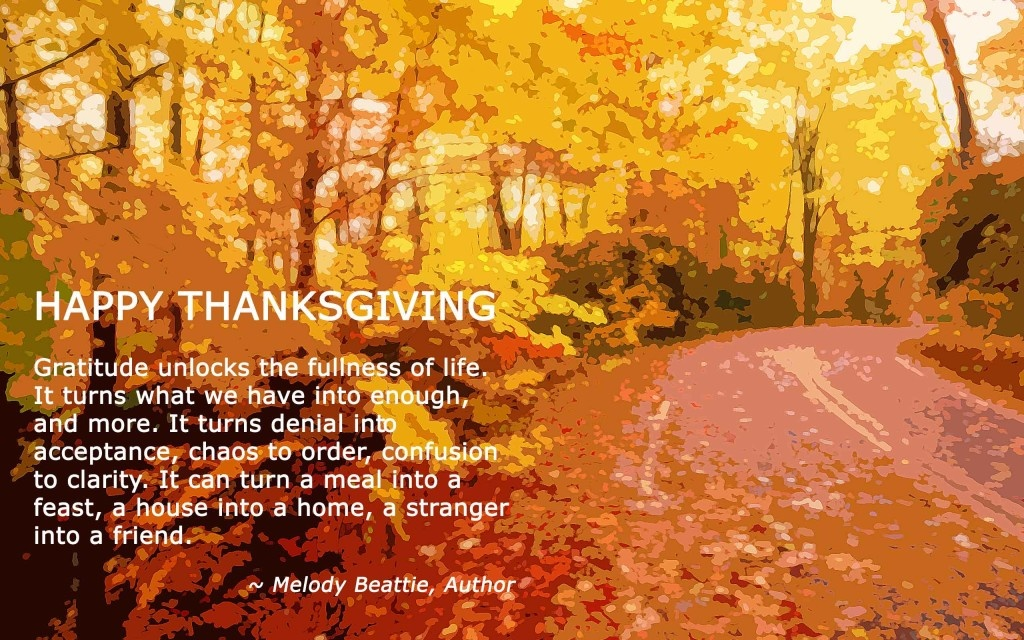 Happy Thanksgiving Quote For Friends 1 Picture Quote #1