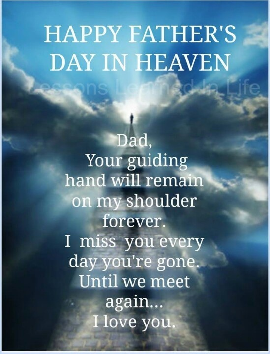 Fathers Day In Heaven Quote 2 Picture Quote #1