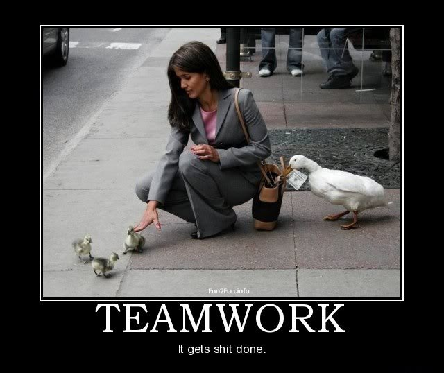 Humorous Teamwork Quote 2 Picture Quote #1