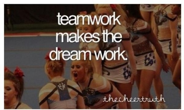 Cheerleading Teamwork Quote 1 Picture Quote #1