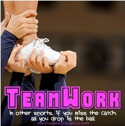 Cheerleading Teamwork Quote 2 Picture Quote #1