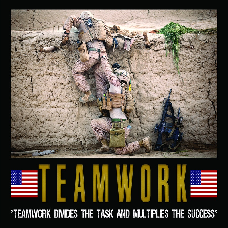 Military Teamwork Quote 1 Picture Quote #1
