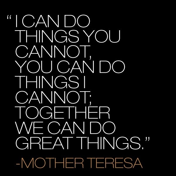 Teamwork Quote By Women 1 Picture Quote #1